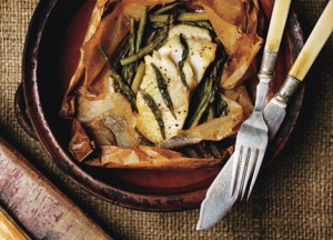 Fish In Parchment with Asparagus and Orange Recipe