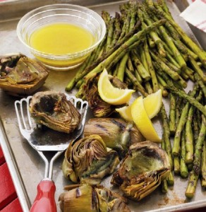 Southern Living's Grilled Artichokes & Asparagus Recipe