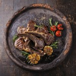 Five Spice Lamb Chops with Raspberry Salsa