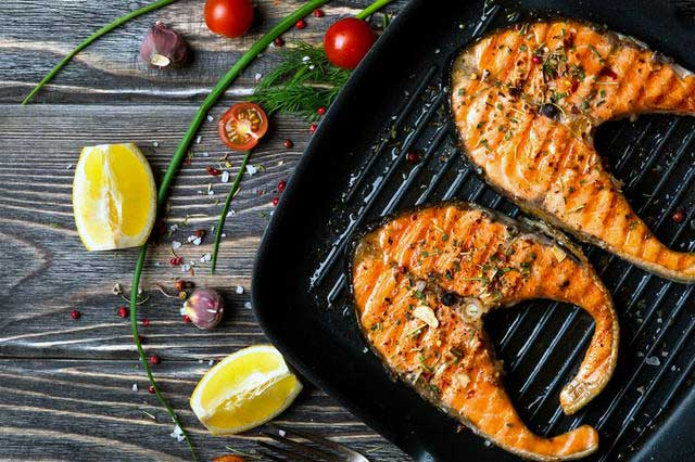 Grilled Salmon Provencal with Yogurt