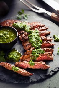 Flank Steak with Anchovy Sauce Recipe